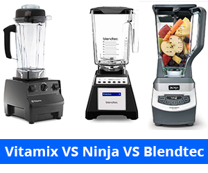 vitamix vs ninja vs blendtec
